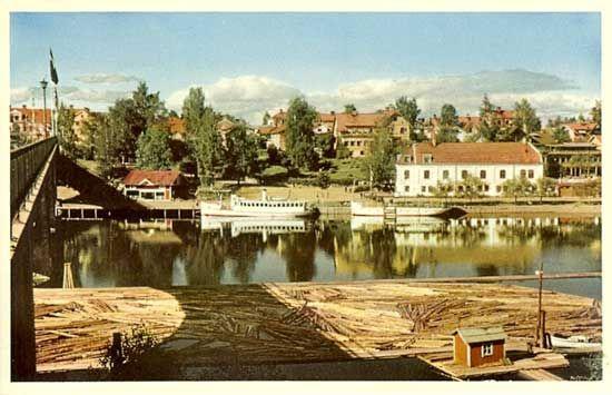 Leksand | Sverige på 1940-1950 talet 70 vykort i färg