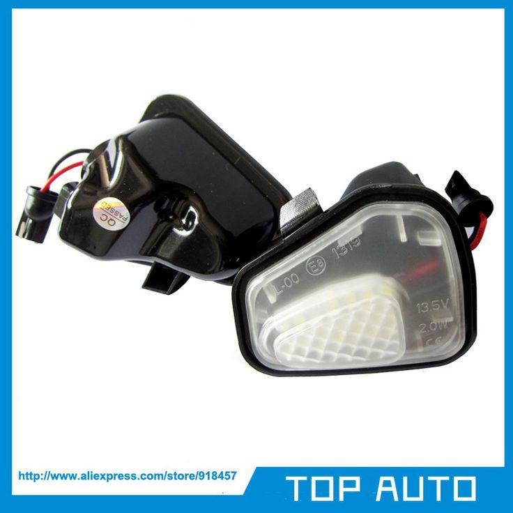 2Pcs LED Side Mirror Puddle Lights No Error for Vw Volkswagen EOS Passat B7 CC Scirocco