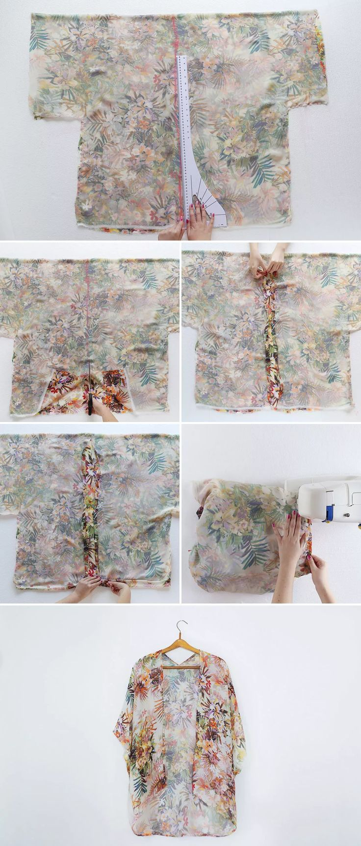 DIY your photo charms, 100% compatible with Pandora bracelets. Make your gifts special. Ein schönes Tutorial, wie ihr selbst gestaltete und bei uns bedruckte Seide- oder Viskosetücher in 30min einen Kimono verwandelt. DIY a Kimono in 30 Minutes! via Brit + Co.