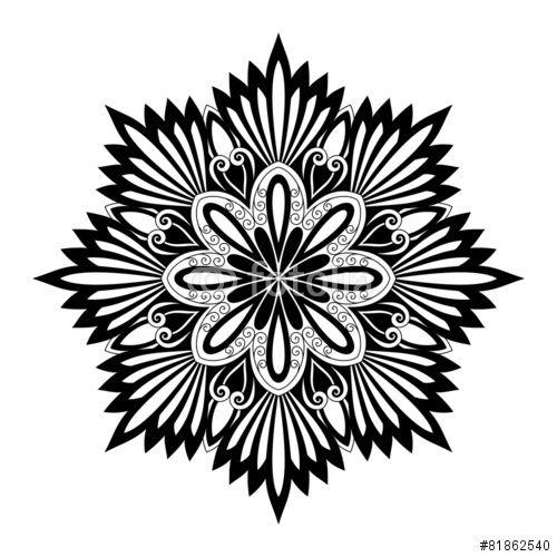 "Tattoo Designs Kochi: Beautiful Deco Mandala (Vector)"" Stock Image And Royalty"