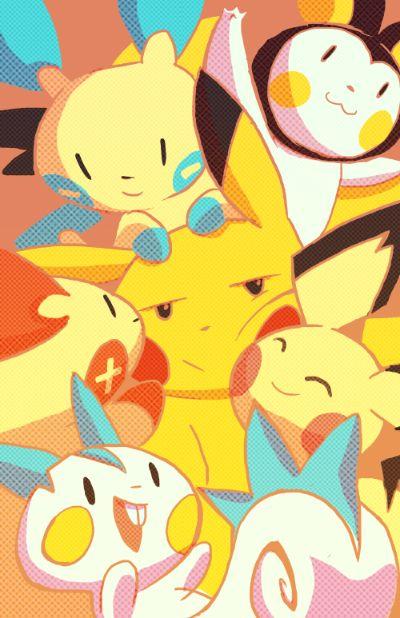 Pokemon: Electric Rat Family by *nargyle on deviantART