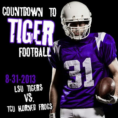 LSU Tigers football kicks off on 8-31-2013. Will you be watching them play TCU? #ncaa #football #lsu #tigers #mike #geaux #geauxtigers