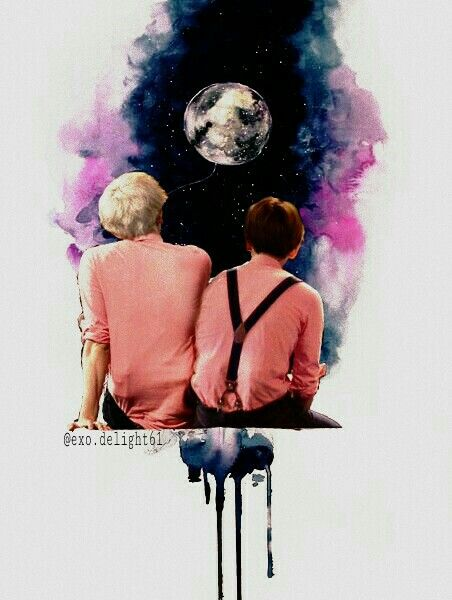 My edit baekyeol exo by IG @exo.delight61
