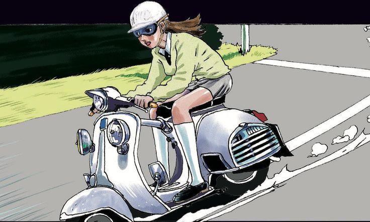 ベスパならやっぱりハンドシフト。これしかない。 乗り手はスーツにハットの黒づくめの大男か、スリムで長い髪の女子がいい。どっちもとびきり絵になるからね。 出典:『GTRoman STRADALE01』