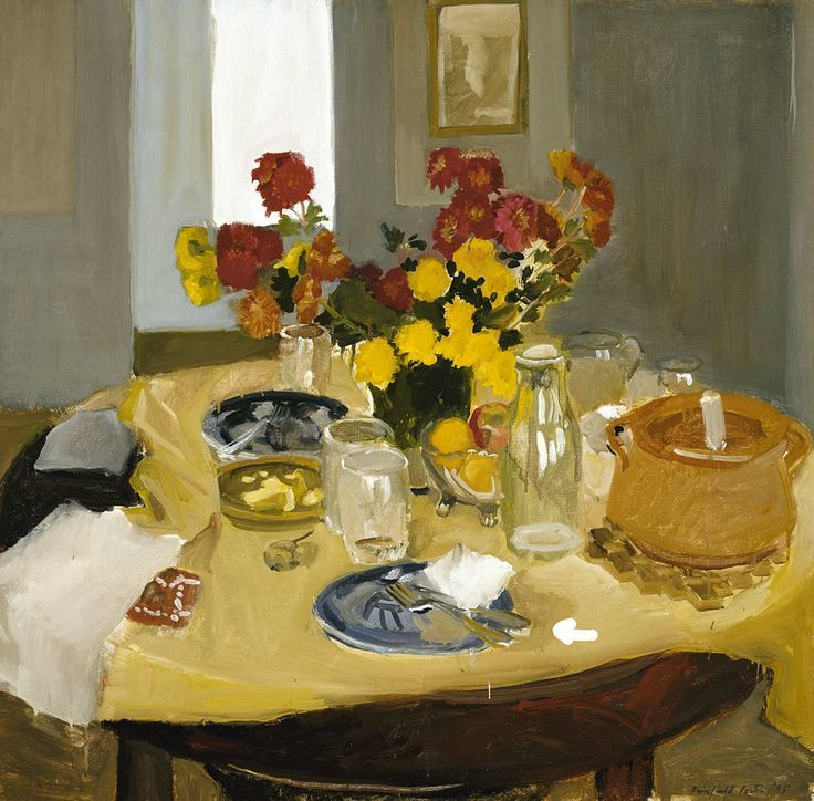 """Fairfield Porter """"Still Life with Casserole"""", 1955 (USA, New York Figurative Expressionism, 20th cent.)"""