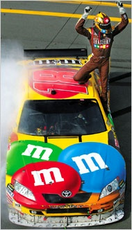 Kyle Busch winning at Talladega in 2008.