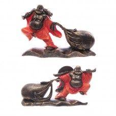 Chinese Buddha Pulling Sack