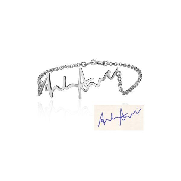 Namensketten - 925 Sterling Silber Armband mit Signatur - ein Designerstück von Aurelia-Pieces bei DaWanda