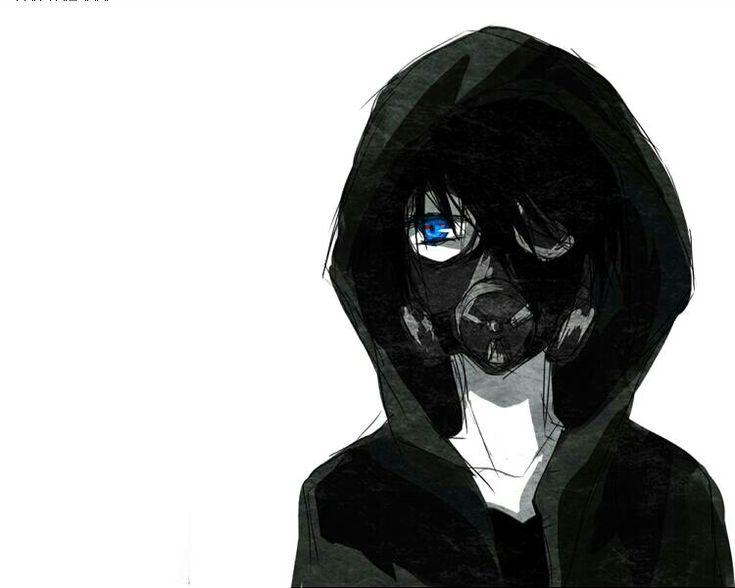 creepy   cute   dark   depressed   edit   gas mask   gasmask   gore   guro   guy   horror