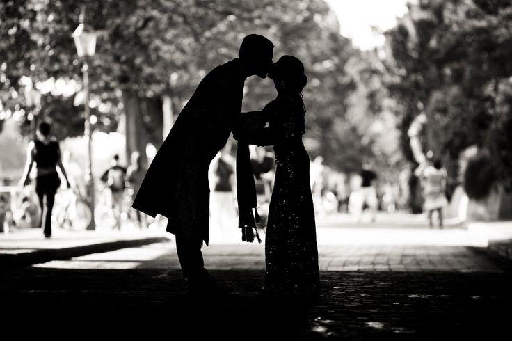 Hochzeitsfoto in schwarz/weiß #brautpaar #wedding #heiraten #basel