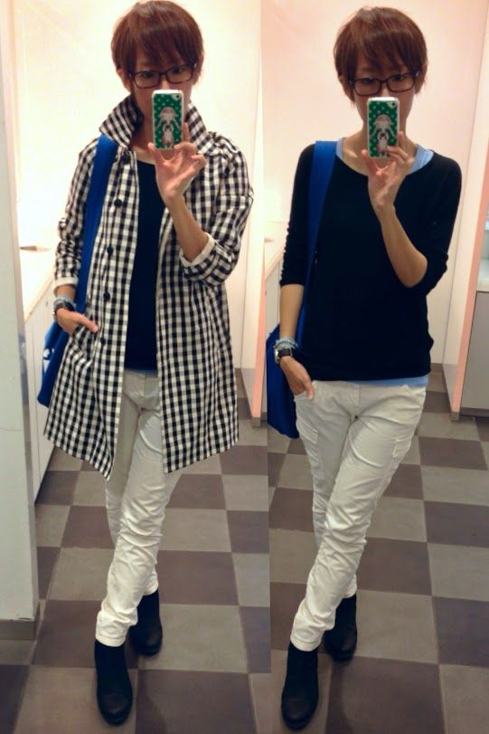 今日のお洋服は全部UNIQLO!!  Coat/UNIQLO Knit/UNIQLO Bottoms/UNIQLO Bag/CLASKA Shoes/CODENOIR  Full body UNIQLO!!