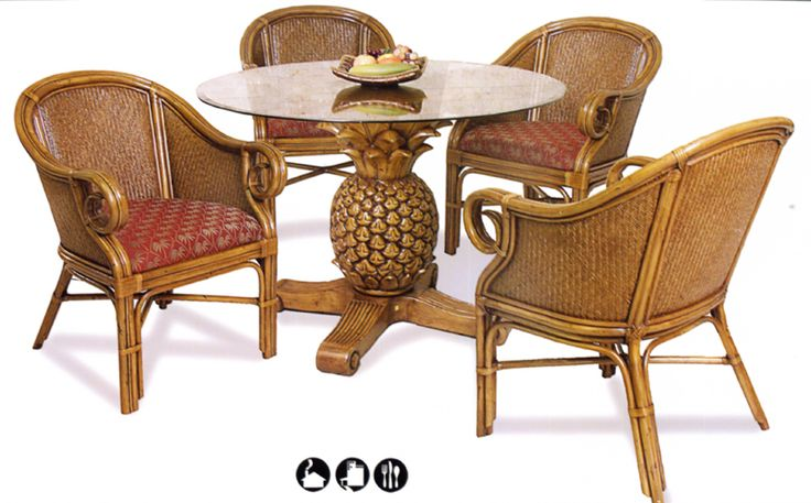 rattan and wicker dining and kitchen sets: Dining Rooms, Pineapple Tables, Chairs Sets, Sunsets Reefs, Baer Furniture, Club Chairs, Dining Sets, Wicker Dining, Dining Tables