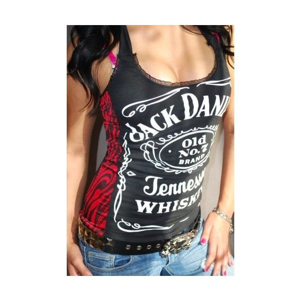 Diy Jack Daniels Halter tank Top Glam Rock Zebra XS-XL found on Polyvore featuring polyvore, women's fashion, clothing, tops, rock tops, zebra print tank top, tie halter top, halter top and halter-neck tops