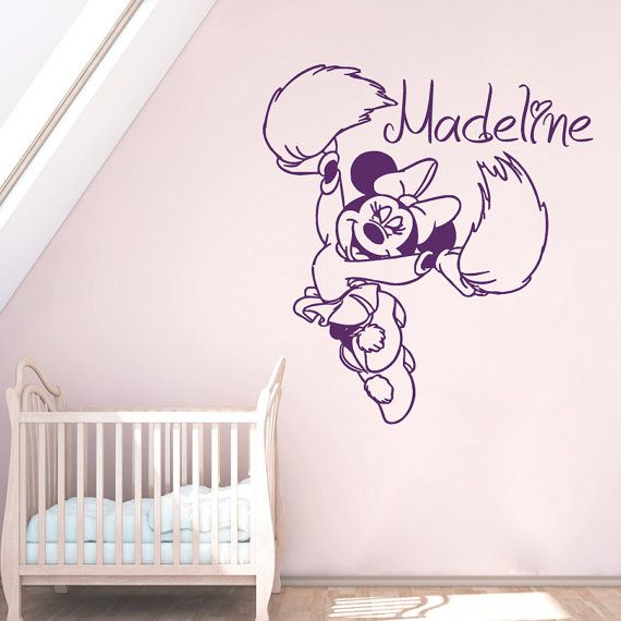 Wall Decals Custom Personalized Name Decal Minnie Mouse Cheerleader Pompons Vinyl Sticker Girl Bedroom Nursery Children Home Decor Ms590