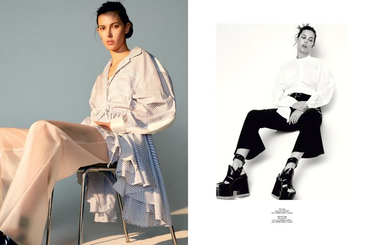 Clean Sheet - Manolo Campion, Stylist Raul Guerrero, Creative Director Kenneth Richard, Model Ruby Aldridge, The Impression Magazine