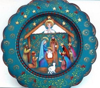 Rosemary West Decorative Painter | Rosemary West - NATIVITY PLATE - Decorative Tole Painting Pattern ...