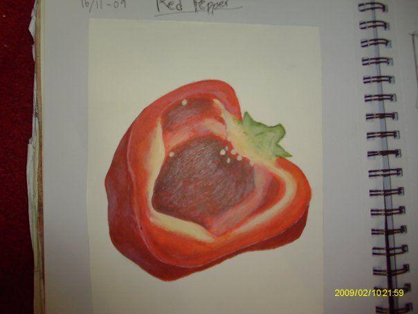 """""""Pepper"""" by Linnea Englander, 2009, acrylic on paper"""