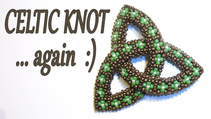 Cubic RAW Celtic Knot - Bead Celtic Knot with Cubic Right Angle Weave be...