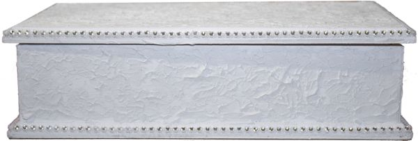 Decorative White Wooden Box - One off design