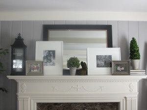 Fireplace mantle decor - could use for entry table decor.