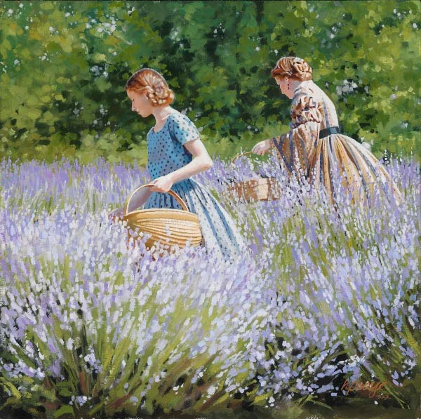 """Heide Presse, """"Picking Lavender"""""""