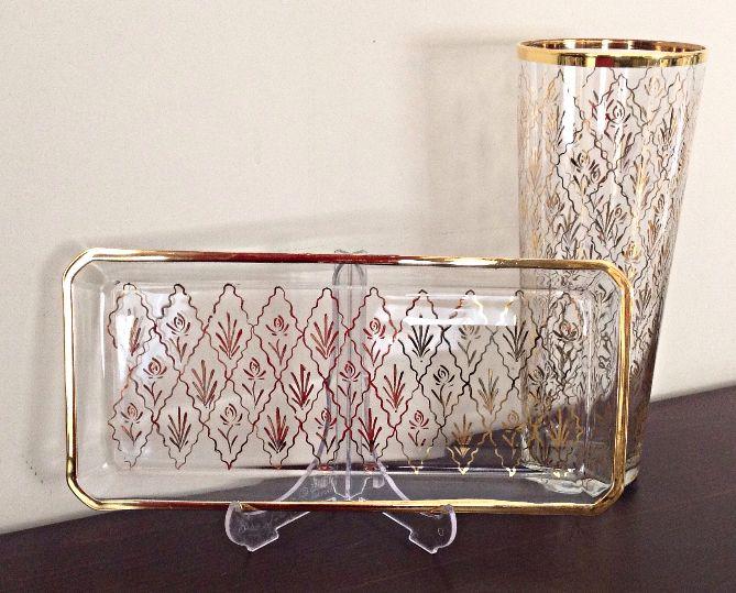 @bypemoş handpainted cam altın Beykoz nakışı