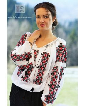 Hand embroidered Romanian blouse ie - bohemian top - worldwide shipping!
