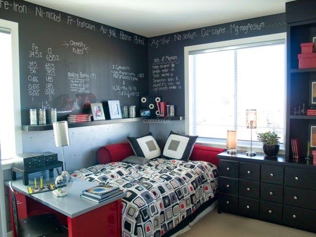 M s de 1000 ideas sobre dormitorios de j venes varones en - Habitaciones juveniles espacios pequenos ...