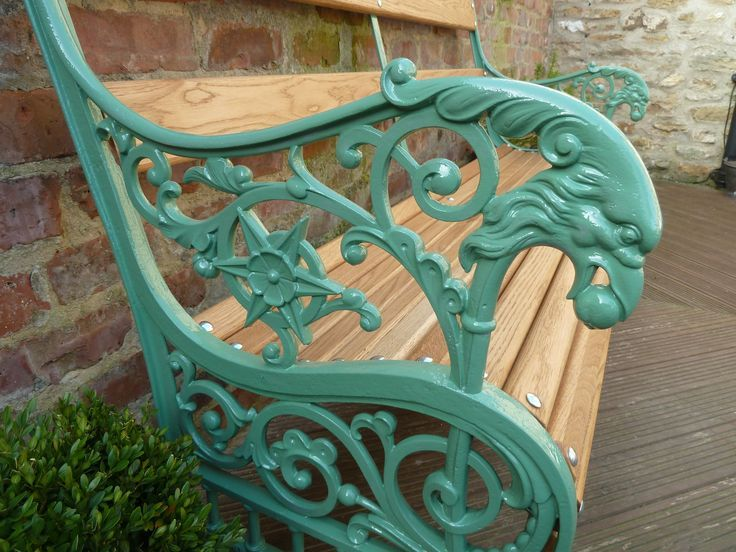Antique Cast Iron Garden Bench Rustikaler Garten Bank Aus Eisen Gartenmobel Sets