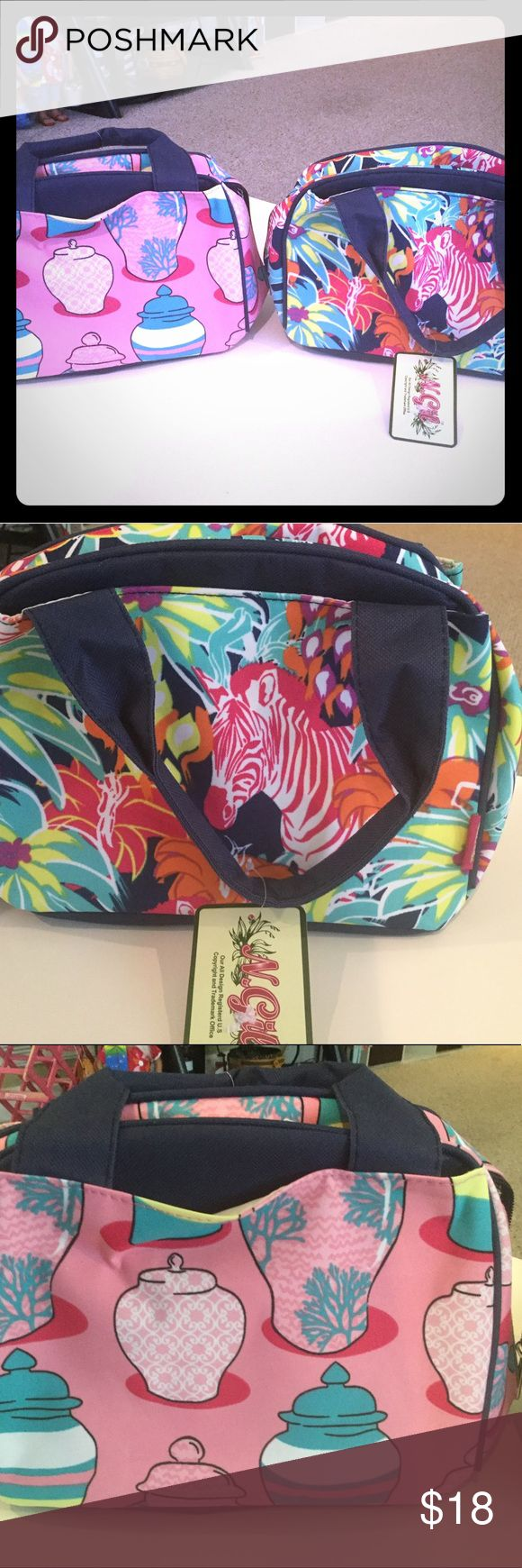 NWT N.Gil insulated lunch totes Ew with tags and super cute patterns. n.gil Bags Travel Bags