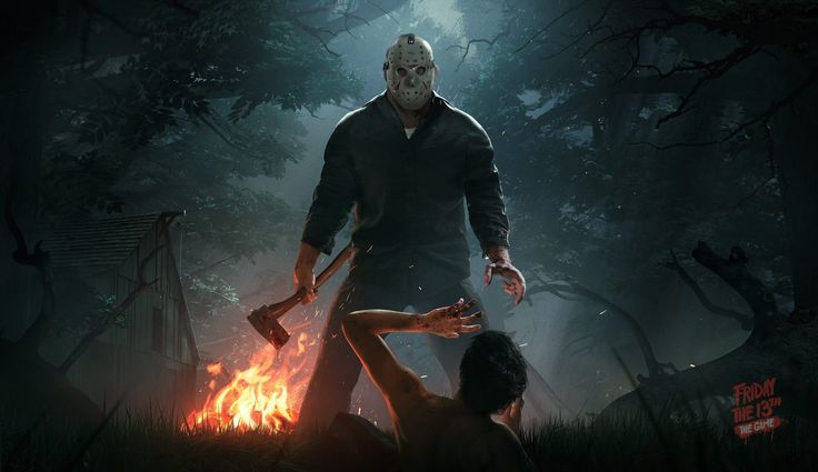 Friday the 13th: The Game is a third-person, asymmetrical multiplayer title where one player controls Jason Voorhees while the remaining seven control camp counselors trying to survive the night. Description from kickstarter.com. I searched for this on bing.com/images
