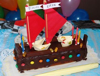 Piratenschiff-Torte - Rezept