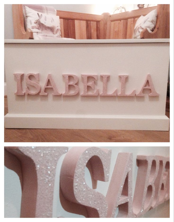 Handmade personalised toy boxes #toybox #personalised #childsplay