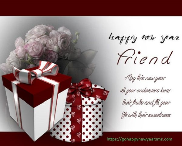 happy new year card messages for your friend