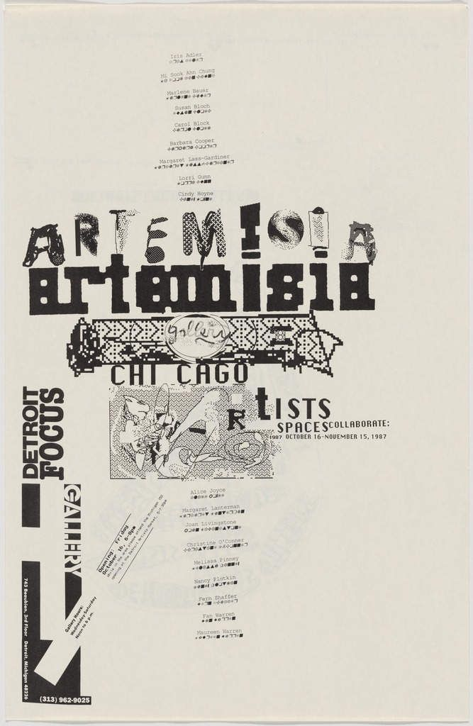 Edward Fella, 1987, Artemisia