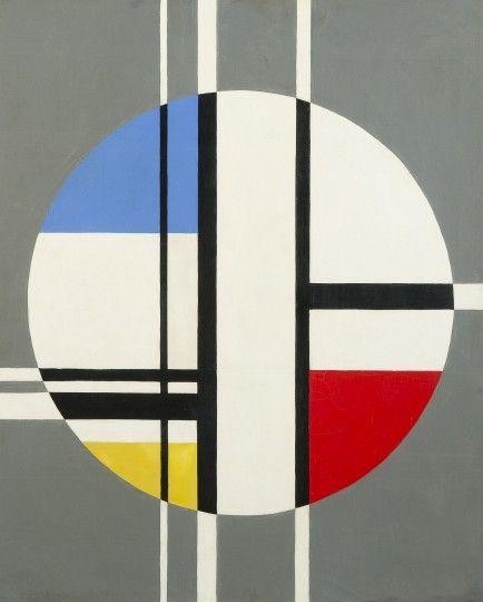 """Jean Albert Gorin, """"Composition"""", 1958 Huile sur panneau. 79 x 66 cm"""