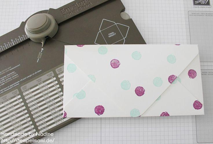 Anleitung Tutorial Stampin Up Umschlag Envelope Punch Board 055