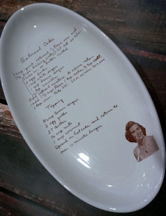You'll never forget grandma's famous cookie recipe when it's immortalized on a plate. #etsyfinds