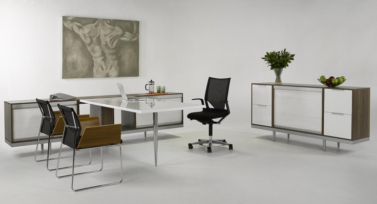 My Space Office Workstation unit : in High gloss white and Walnut Veneer, http://www.ergoform.co.za/executiveoffice.htm#