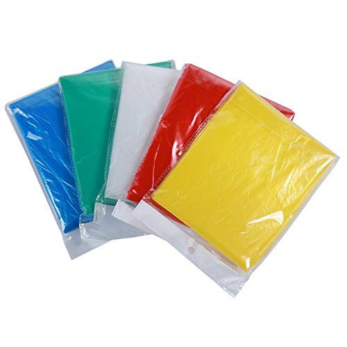 Disposable Rain Emergency Fashion Poncho for Adults - 20 Pack (Multi-Color) - Individually Wrapped