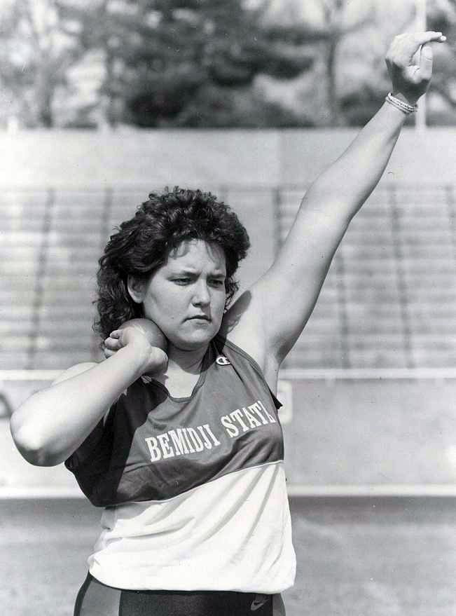 In keeping with our #TBT Athletic Hall of Fame theme for the week, Patti (Fitzgerald) Zwiers is the fourth individual from BSU's 2014 induction class. From 87-90 Patti was a five-time track and field All-American in the shot put. She, along with five others and two outstanding teams, will be inducted into BSU's Athletic Hall of Fame Saturday. http://www.bsubeavers.com/athletics/halloffame/default/7048/patti-fitzgerald-zwiers/
