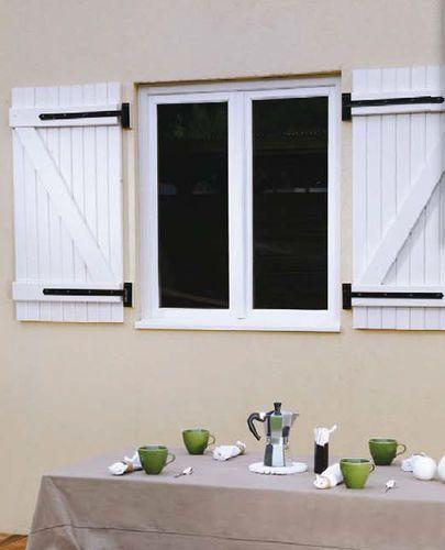 Contraventana abatible / de madera / para ventana BURGER