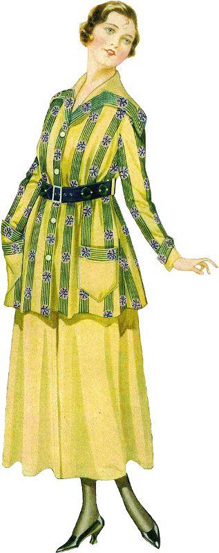 1915 Fashion ~ Zibi Vintage Scrap