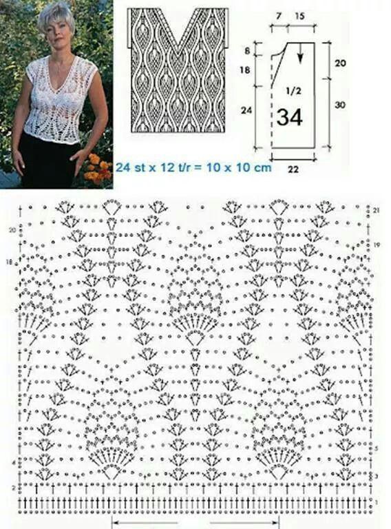 Punto piña crochet