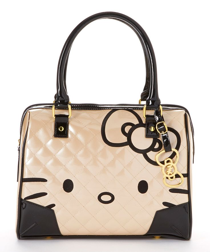 This Pink Champagne Quilted Patent Hello Kitty Shoulder Bag by Hello Kitty is perfect! #zulilyfinds