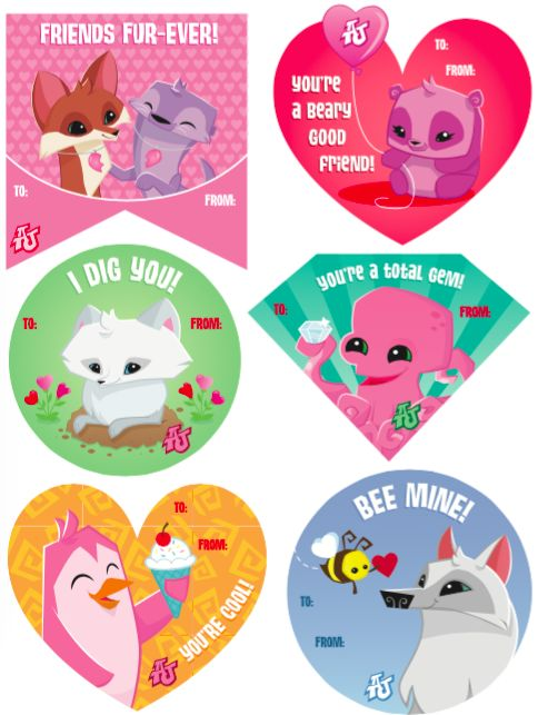 Celebrate Friendship Day with Animal Jam! Give your best friends an adorable valentine! Free to download and print out! #playwild