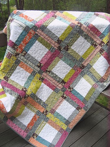 Grandma Mary's Five Patch pattern with Hope Valley Fabric by Denyse Schmidt | Flickr - Photo Sharing!