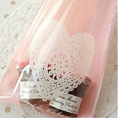 50st roze hart kant cookie-bakkerij snoep koekje sieraden gift plastic verpakking zak kindje bruiloft feest decoraties 2016 – €9.20