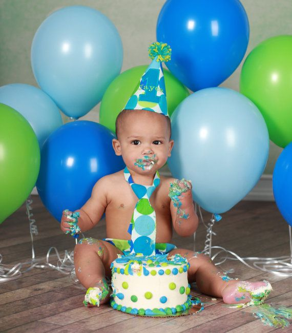 Personalized Cake Smash First Birthday Outfit by JustInTies, $44.00
