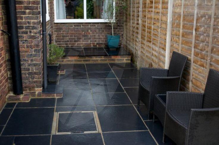 kota black limestone paving garden pinterest black. Black Bedroom Furniture Sets. Home Design Ideas